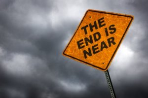 End of World road sign