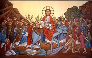 palm sunday - icon